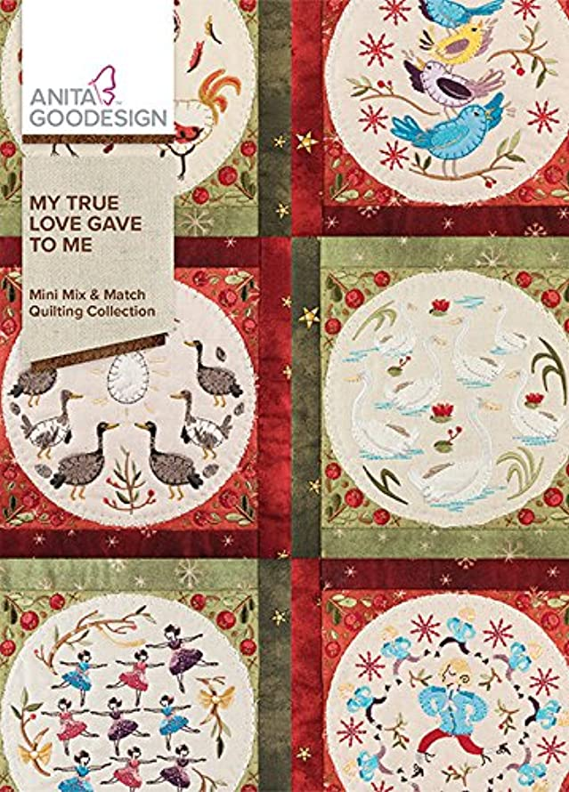Anita Goodesign Embroidery Machine Designs CD My True Love Gave to Me