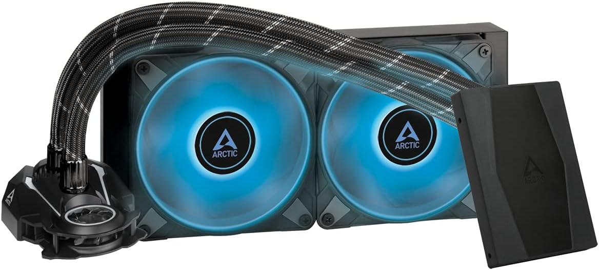 ARCTIC Liquid Freezer II 240 RGB (incl. Controller) - Disipador líquido All-in-One para CPU con RGB, compatible con Intel y AMD, pompa eficiente controlada por PWM, 200-1800 RPM - Negro
