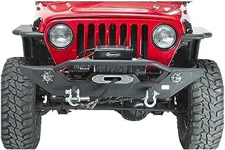 Fishbone Offroad FB22016 Jeep Front Bumper W/LED's 87-06 Wrangler TJ/YJ Steel Black Textured Powercoat