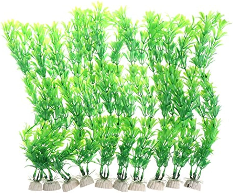 10Pcs Aquatic Plants Plastic Vivid Artificial Fish Tank Aquarium Ornament Decor