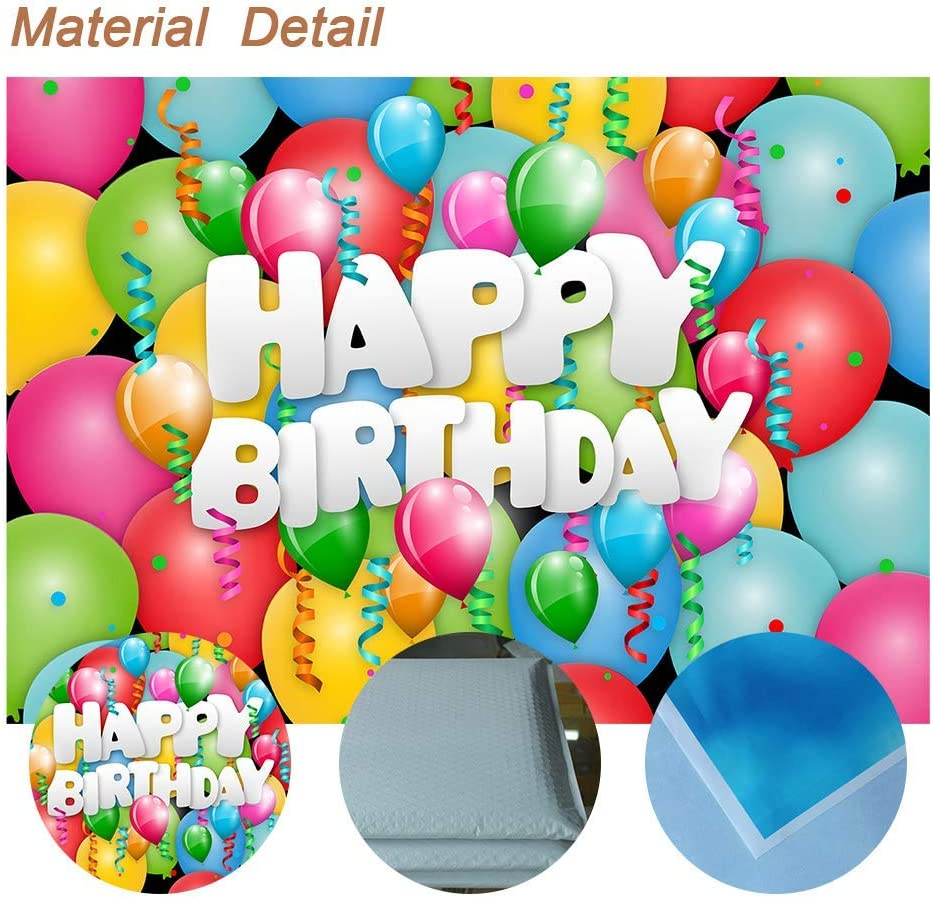 15x10ft Birthday Background Banner Family Party Decoration for Photography Photo Studio Props LHFU392