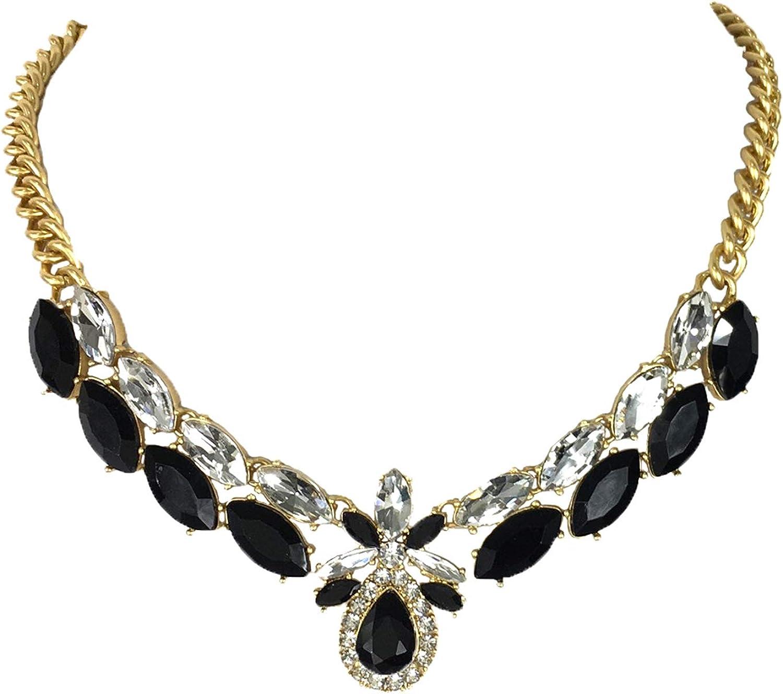 Kate Spade Glitzville Crystal Statement Necklace, Black Multi