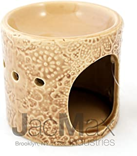 Expressive Scent Ceramic Burner for Oil and Wax Melts - Fragrance Oil Warmer Lamp CREAM 26-6