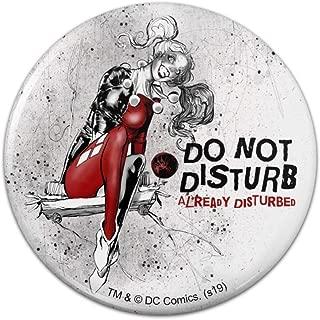Harley Quinn Already Disturbed Pinback Button Pin Badge - 2.25