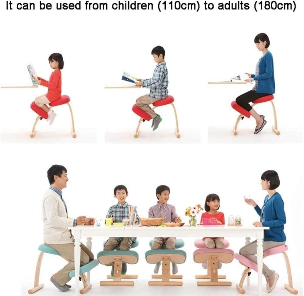 AYHa Agenouillement chaises Chaise de bureau Ergonomie correcte position assise Home Office à soulager la fatigue,B A