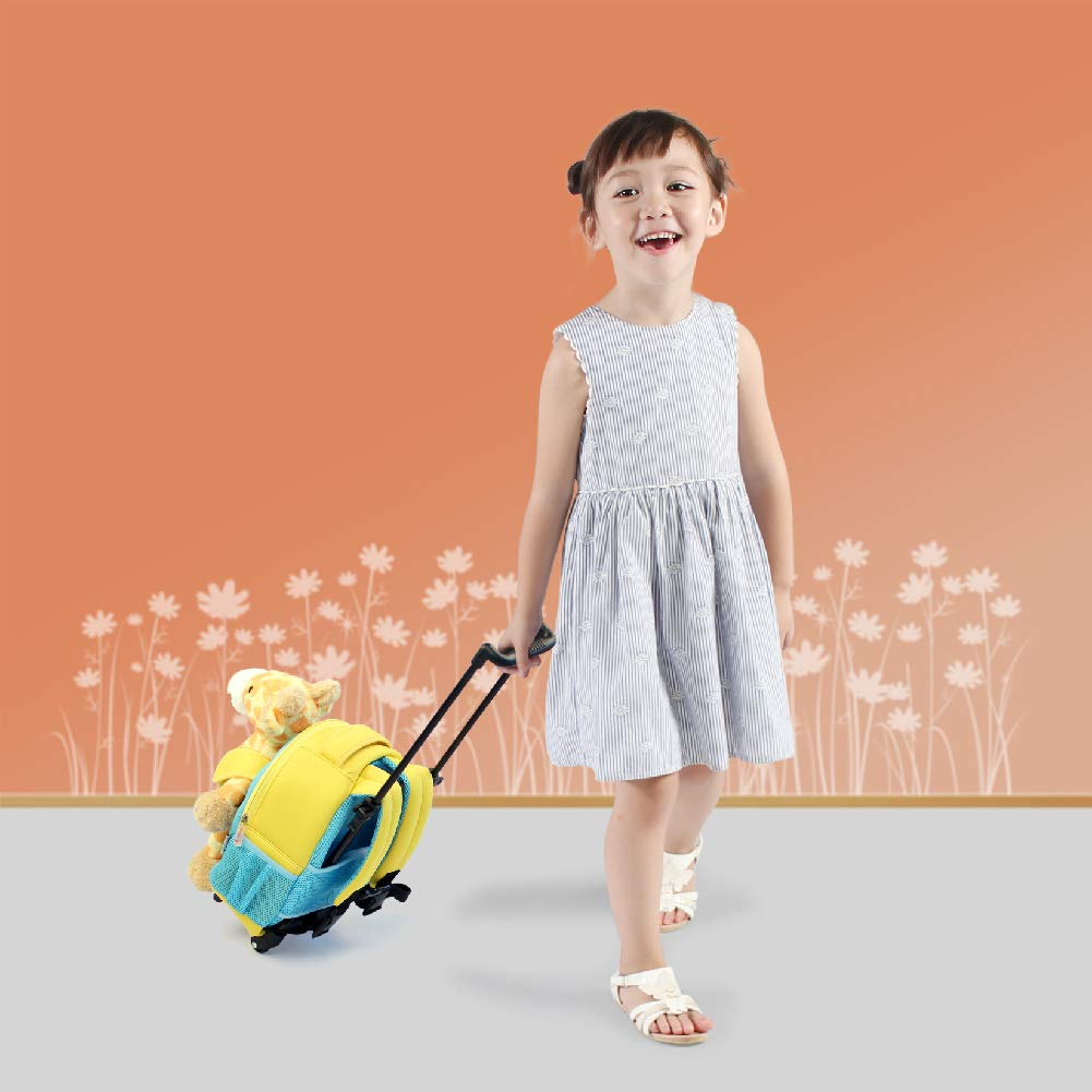 Little Kids Luggage Backpack with Animal Toy for Toddler Boys and Girls Funday Kids Backpack with Removable Wheels Dinosaur