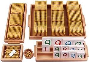 Montessori Golden Beads Materials Decimal System Bank Game Montessori Math Toys Mathematics Teaching Aids Materials Baby Preschool Education Toys