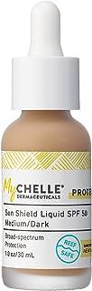 Mychelle Dermaceuticals Sun Shield SPF 50, Natural Tan Liquid 30 ml, 1 Fl Oz (Pack of 1)