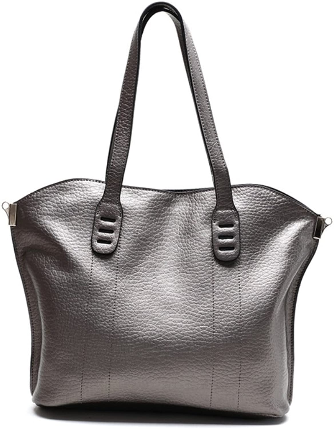 HIFISH HB125035 Leather Europe Style greenical Section Square Tote Handbag