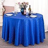 HHCQY Fancy Hotel Bankett Tischdecke Hochzeit Restaurant Big Round Table Couchtisch Tischdecke (Farbe : Blau, größe : 180CM)