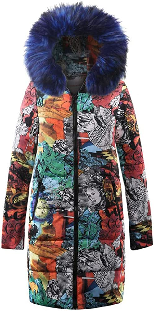 iYYVV Womens Ladies Winter Long Cotton Parka Hooded Down Coat Quilted Jacket Outwear