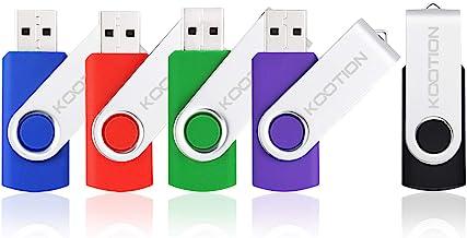KOOTION 5 X 32GB USB 3.0 Flash Drives 32gb Flash Drive 3.0 Swivel Thumb Drives USB Drive 3.0 High-Speed Pen Drives Keyhcain Design Memory Sticks(Mixcolors: Black Blue Green Purple Red)