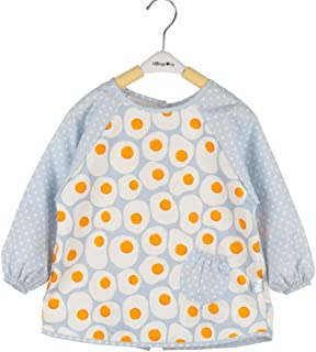 0-4 Years Old Children Bib With Sleeve Baby Eat Anti-dirty Cotton Waterproof Child Painting Long-sleeved Bib For Infant To...