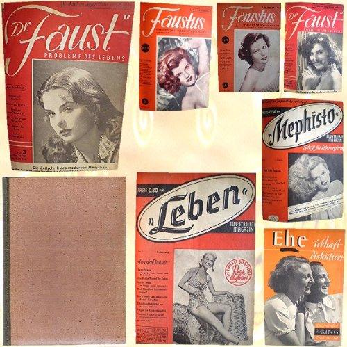 Dr. Faust, Heft 1/1950, Heft 3/1950, FAUSTUS Heft 1/1951, Heft 3/1951, Heft 1/1952, LEBEN Heft Nr. 1, MEPHISTO Heft Nr. 1, Heft Nr. 5, EHE - lebhaft diskutiert (Sonderheft)