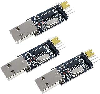 HiLetgo 3個セット USB Toシリアル USB ToTTL CH340モジュール STC マイクロ コントローラー ダウンロード USBシリアル ケーブル [並行輸入品]