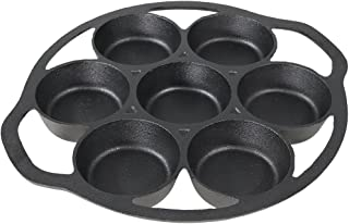 Sunnydaze Cast Iron Drop Biscuit and Muffin Pan, Indoor or Outdoor Camping Cookware, Pre-Seasoned