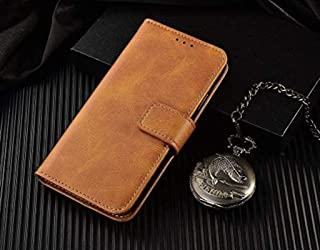 TROUNCE Vintage Faux Leather Flip Wallet Case Kickstand with Card Holder & Magnetic Closure Cover for HTC Desire 626 G / 6...