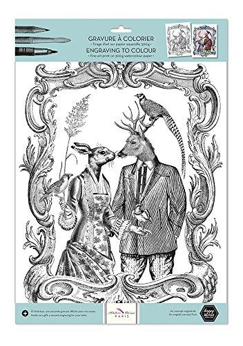 Alibabette Editions Paris Gravuren zum Ausmalen Les Chats de Paris Romantik Romance