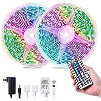 Eravsow 32.8ft 5050 RGB Waterproof Flexible 300 LEDs Tape Strip Lighting