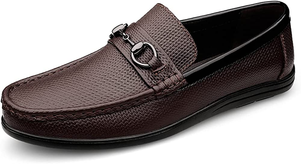 JTOP Men's Penny Loafers Comfort Leather Shoes Driving Kansas Under blast sales City Mall Moccasin