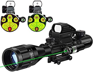 MidTen 4-16x50 Tactical Rifle Scope Dual Illuminated Optics & Rangefinder Illuminated Reflex Sight 4 Holographic Reticle R...