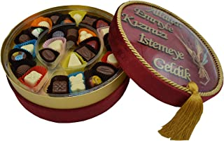 Kız İsteme Karma Dolgulu Special Çikolata Kadife Kutu ( 400 gr ) Bordo