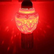 E27 rode ledlamp, draaistogel, led-nachtlampje, 3 x 1 W rode led-slaapkamerlamp, automatische rotatie naar binnen, in de s...