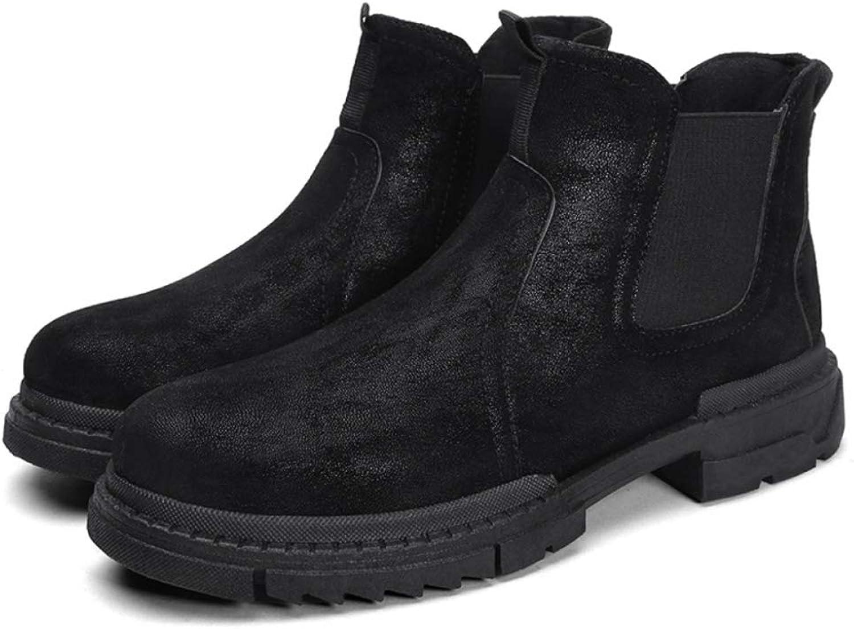 Men'S Chelsea Boots High shoes Winter Short Boots Tooling Boots Chelsea Martin Boots Men
