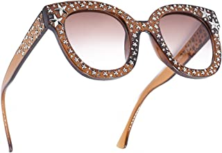Sparkle Vintage Star Rhinestone Cat Eye Sunglasses Novelty Glitter Shades
