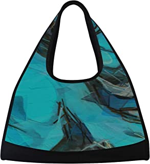 JGYJF Close-ups of Paints in Custom Tennis Racquet Bag Fitness Bag Bag Badminton Racket with Pockets Tote Tennis Bags for Women Racquet Shoulder Bag for Sport Travel Shopping