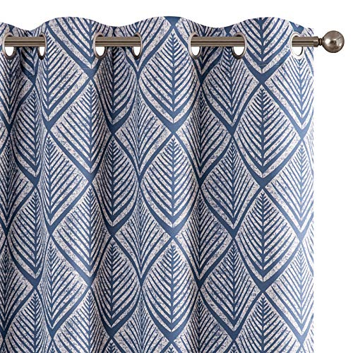 jinchan Blackout Curtains Geometric Patterns Design Grommet Top Bedroom Window Curtains Room Darkening Thermal Insulated Drapes 95