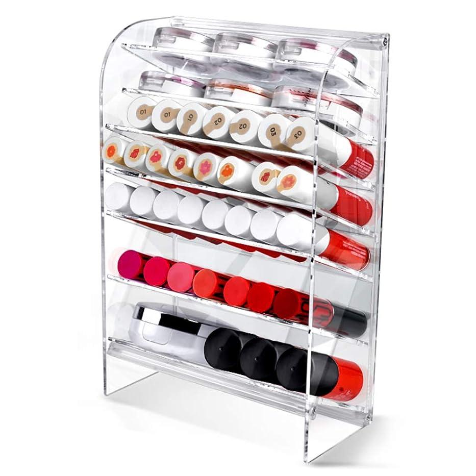 ロック解除寝室を掃除するベンチャーAcrylic アクリル DIY Cosmetic 透明 コスメケース メイクケース メイクボックス 化粧品 入れ コスメ リップスティック 収納 スタンド/Organizer storage For lipstick make-up [並行輸入品] (TOWER L)