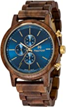 Maui Kool Wooden Chronograph Watch Pukulani Collection for Men Analog Chrono Wood Watch Bamboo Gift Box