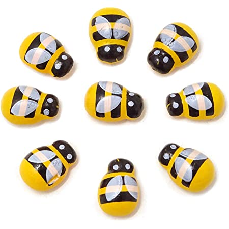 No Adhesive Ladybird//Bees Scrapbooking//Embellishments Stable Self Small I2T9