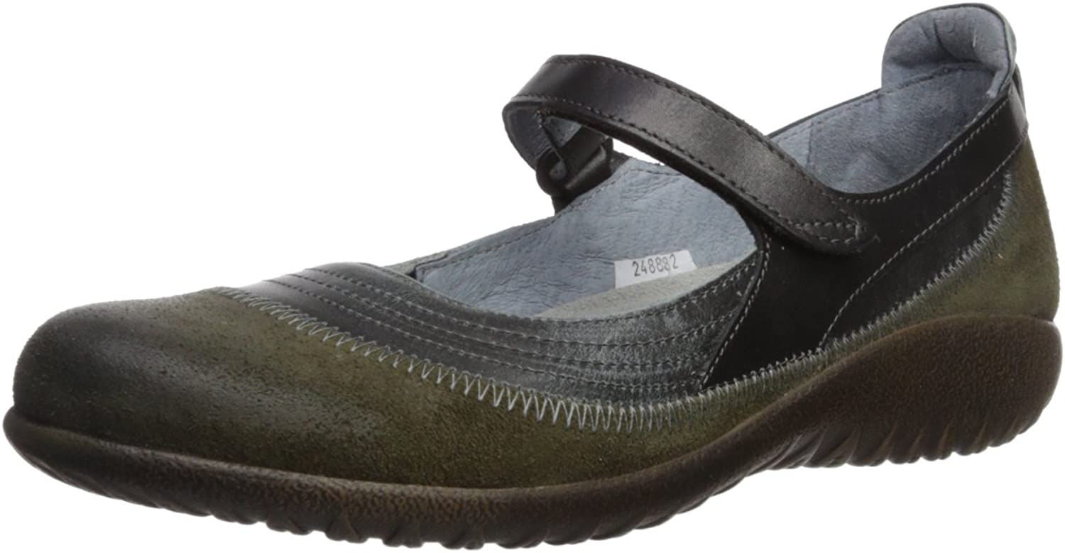NAOT Men's Kirei Mary Jane Flat