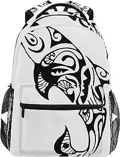 Backpack Women Men Teen Girl Boy School Bag Purse Dolphin Tattoo Animal Bookbag Casual Daypack Supplies