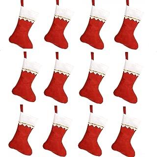 Red Felt Stockings Pack of 12