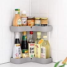 ORPIO (LABEL) Multipurpose Kitchen Bathroom Shower Shelf Triangle Shelves Holder Storage Cosmetic Rack Bathroom Corner Self Suction Organizer (Multi)