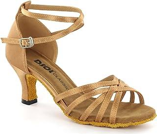 DSOL Zapatillas Sandalia de Baile Latino para Mujer DC261303  DC261305  Tacon 5.6cm 5182ec4460fb