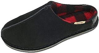 شباشب من الجلد المدبوغ الأصلي للرجال من PAMIR أحذية شتوية مبطنة بالصوف الدافئ نعل داخلي وخارجي
