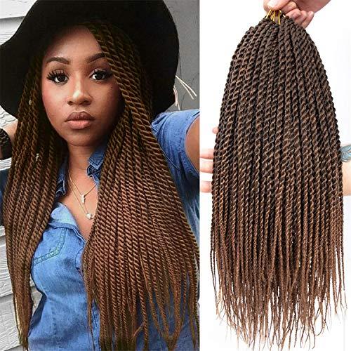 6Pcs 24Inch 30stands Senegalese Twist Crochet Hair Braids Senegalese...