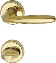 HOPPE Deurkruk Roissy op ronde rozet   messing gepolijst   WC-draaiknop   goud glanzend
