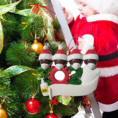MOLEK Adornos de Papá Noel 2020, Colgante de decoración de árbol de Navidad, Papá Noel con Cubierta Facial, decoración Tradicional para el hogar para la Familia