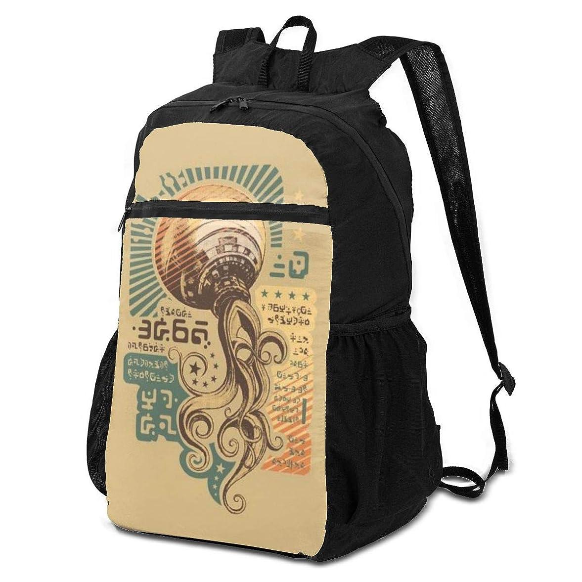 爆弾忠誠解明登山リュック ザック 抽象日本語 バックパック 軽量 防水 通勤 小型旅行 折りたたみ式キャンプ アウトドアバッグ