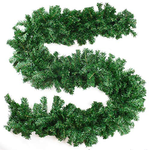 TRIXES ChristmasGarlandDecoration- 9ftPlainArtificialPineWreath-forHome Décor-Stair and TableDecoration -Natural LookSpruceGarland-Indoor & Outdoor Decoration- Green
