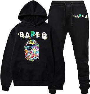 Hooded Sweatsuit Men Women Activewear Warm Tracksuit Sport Suit Set Hip Hop Couple Hoodie Sweat Suit