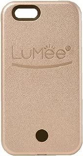 LuMee Original Phone Case, Rose Gold | LED Lighting, Variable Dimmer | Shock Absorption, Bumper Case, Selfie Phone Case | iPhone 6s