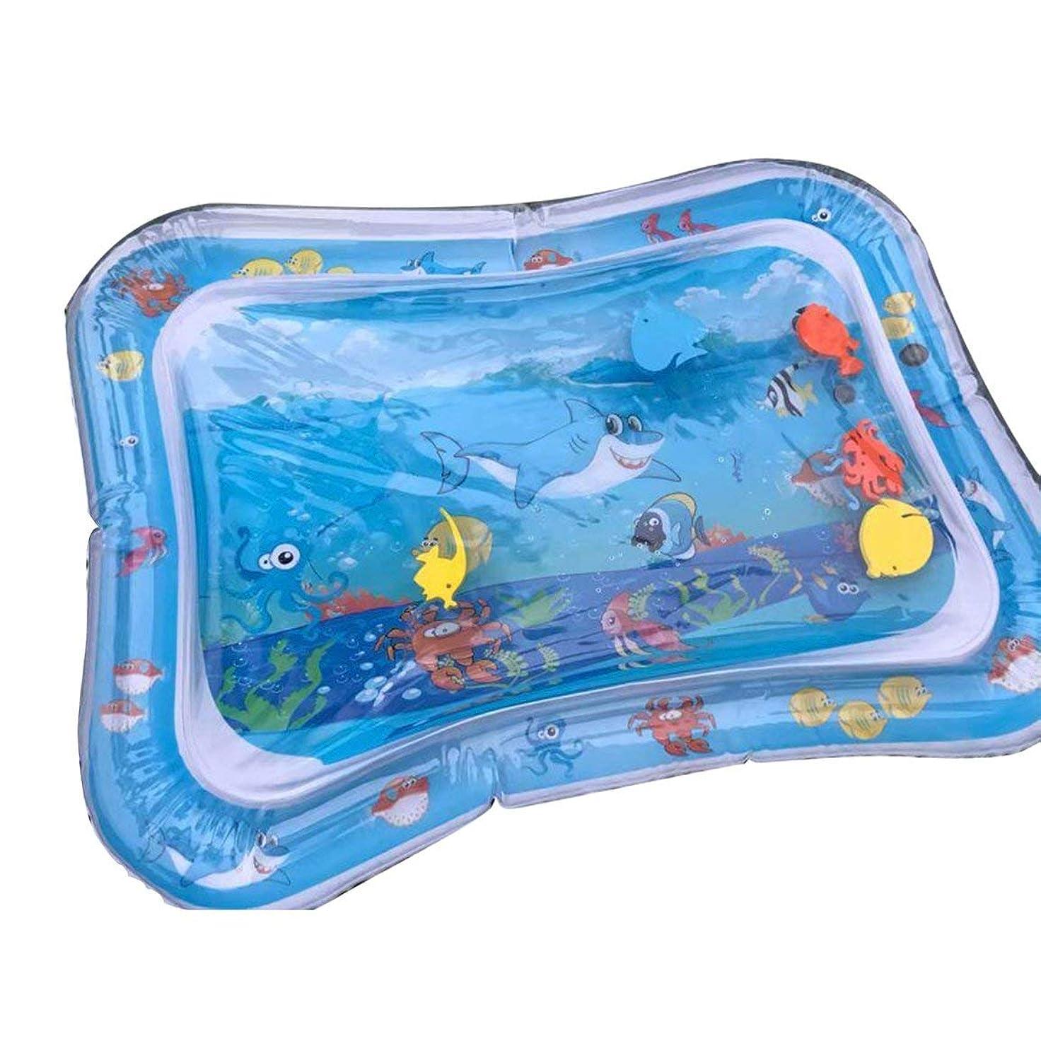 微妙アジャ微妙クリエイティブデュアルユース玩具ベビーインフレータブルノックパッドベビーウォーター枕前立腺水枕パットおもちゃSGS認証-ブルー