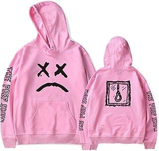 DANDAN PC 1 De La Tela De Algodón Confort Pullover Sudaderas con Capucha Unisex Moda Pink(1 pcs)-XXXL