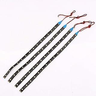 Yosoo 15 LED Lichtstreifen für Fahrzeuge, biegsam, wasserdicht, dekorativ, hellblau, 30cm (4Stück)